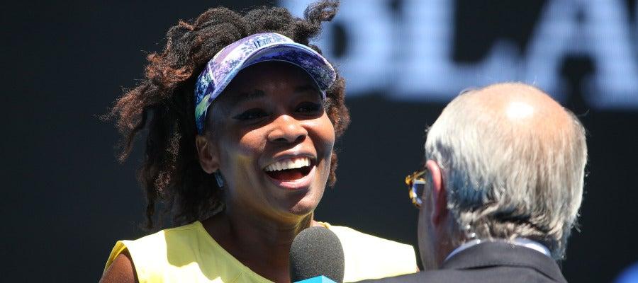 Venus Williams, después de un partido del Open de Australia