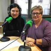 La doctora Simona Mas y Mayte Vilaseca antes de la entrevista.