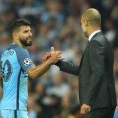 Agüero, con Guardiola