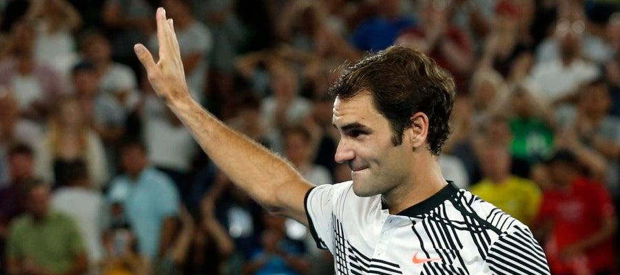 Roger Federer en el Open de Australia
