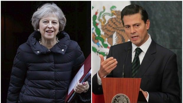 Theresa May y Enrique Peña Nieto