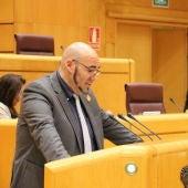 El senador de Compromís, Jordi Navarrete.