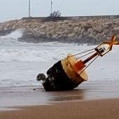 Temporal marítimo, boya arrancada