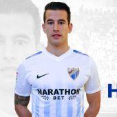 El defensa del Málaga, Luis Hernández.