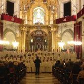 La Escolanía del Misteri d'Elx en un concierto.