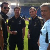 Arbeloa, Xabi Alonso, Casillas y Mourinho
