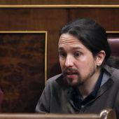 Pablo Iglesias e Iñigo Errejón en el Congreso