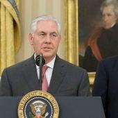 Rex Tillerson con Donald Trump