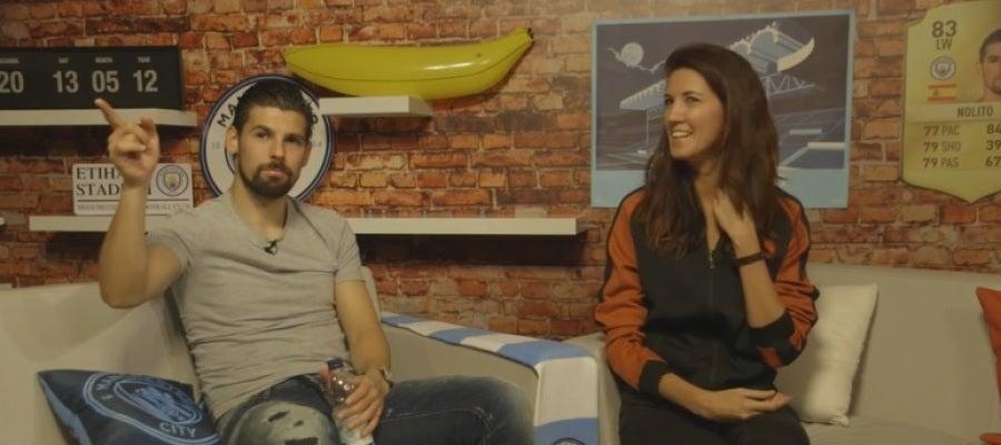 Nolito, durante una entrevista con el City