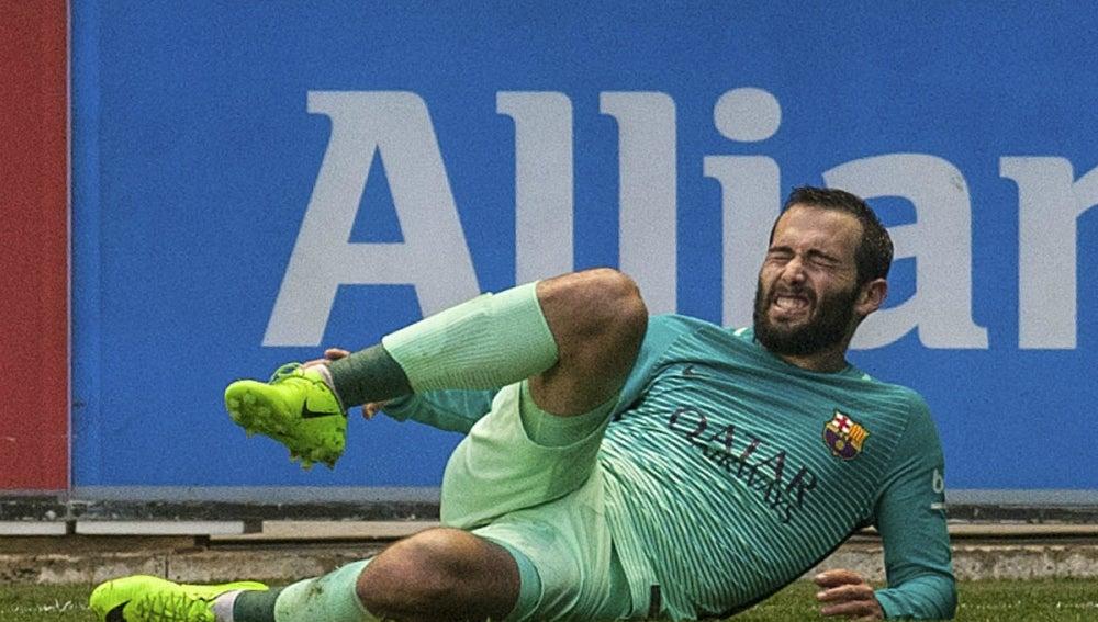 Aleix Vidal, lesionado
