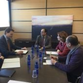 El conseller de Hacienda y Modelo Económico, Vicent Soler, ha presidido la junta de AEROCAS.