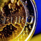 Detalle de una moneda de euro, en Colonia (Alemania).