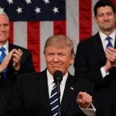 Donald Trump durante su primer discurso parlamentario
