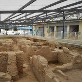 Restos de los baños árabes encontrados junto al Mercado Central de Elche.