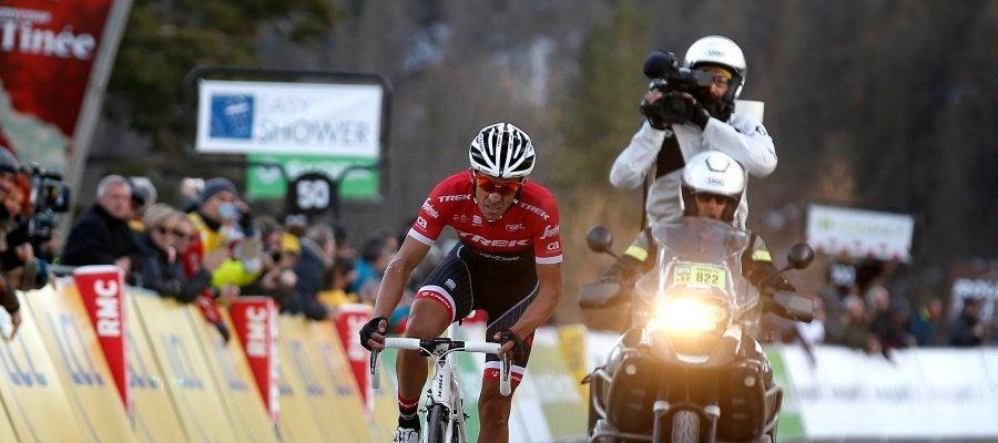 Alberto Contador, durante la París-Niza
