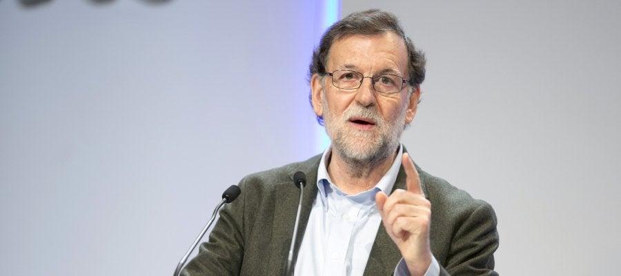 Mariano Rajoy durante su intervención en la clausura del congreso del PP vasco celebrado en Vitoria