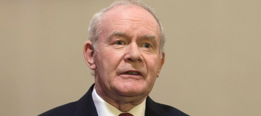 El exviceministro de Irlanda del Norte, Martin McGuinness