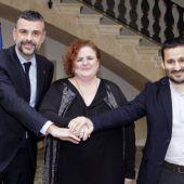 Santi Vila, Ruth Mateu y Vicent Marzà