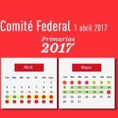 Calendario de las primarias del PSOE