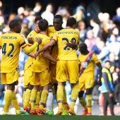El Crystal Palace celebra un gol