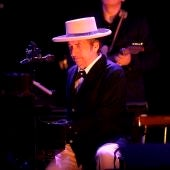 El músico Bob Dylan durante un concierto