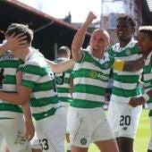 El Celtic celebra un gol