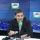 Asier Garitano, entrenador del Leganés, durante una entrevista en Onda Cero