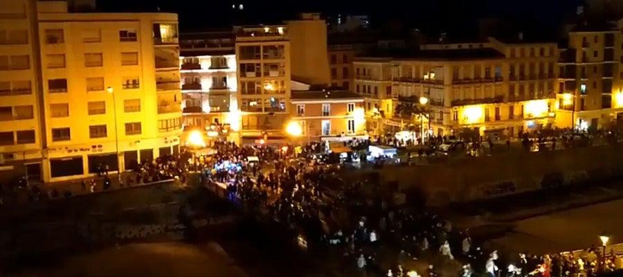 Estampida en Málaga