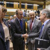 Alfonso Alonso e Íñigo Urkullu en el Parlamento Vasco