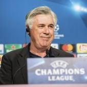 Carlo Ancelotti durante la rueda de prensa