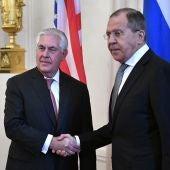 Rex Tillerson y Serguéi Lavrov
