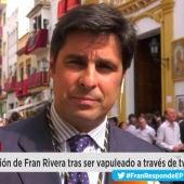 Fran Rivera durante su intervención en Espejo Publico