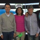 Matías Prats, Matías Prats hijo, Eloy Arenas, Eloy Azorín e Isabel Gemio