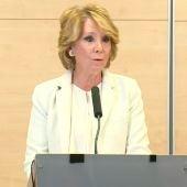Esperanza Aguirre dimite como Portavoz del  PP en el Ayuntamiento de Madrid