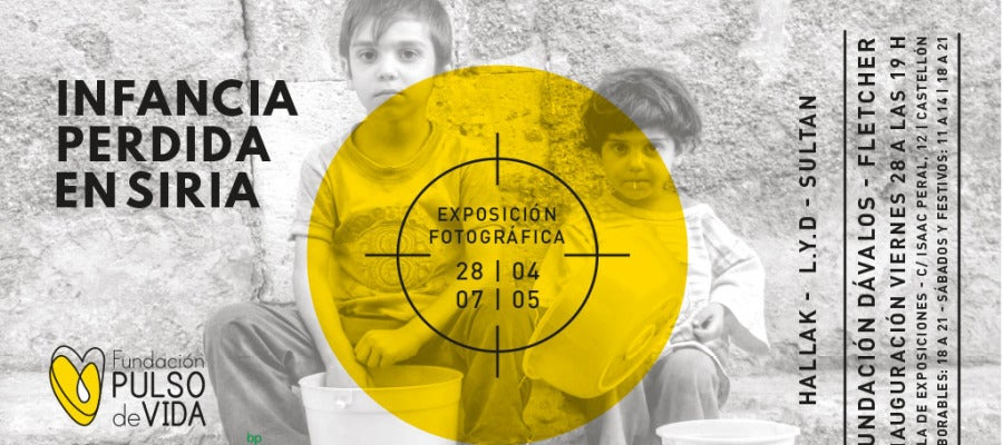 Gracias a la colaboración de la refinería de BP en Castellón y de la Fundación Dávalos–Fletcher, estas instantáneas muestran la situación que viven las niñas y niños en medio de la guerra siria.