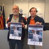 Jaime Sánchez, presidente del Club Natación Elche, y Jesús Pareja, concejal de Deportes.