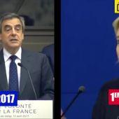 Frame 10.639452 de: Marine Le Pen plagia varios fragmentos de un discurso de Fillon