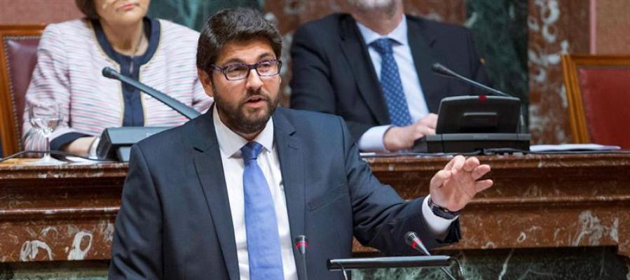 Fernando López Miras en el Parlamento murciano