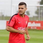 El jugador del Sporting, Víctor Rodríguez