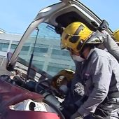 Maniobra de rescate durante el simulacro