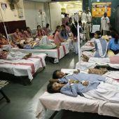 Las niñas hospitalizadas tras el escape de gas
