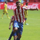 Carlos Carmona celebra su gol a Las Palmas.