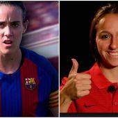 Marta Unzúe (FC Barcelona) y Marta Corredera (Atlético de Madrid)