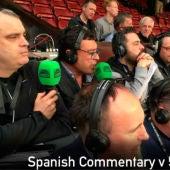 Alfredo Martínez durante la retransmisón del Manchester United - Celta de Vigo