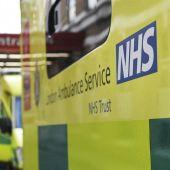 Una ambulancia en un hospital de Londres