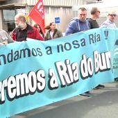 Los mariscadores de A Coruña piden en una manifestación el saneamiento de la ría de O Burgo