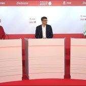 Los tres candidatos a las primarias del PSOE