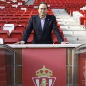 El presidente del Sporting, Javier Fernández.