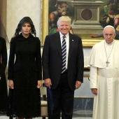 Los Trump visitan al Papa Francisco en el Vaticano