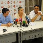 Juana María Jaume, María Llanos, María Martín y José García en la sede de UGT Illes Balears.